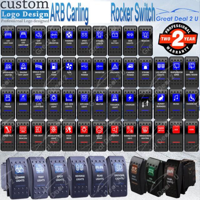 ARB Carling Rocker Switch Dual Backlit Spot LED Light Power 12V 24V ON OFF Part