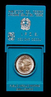 1981 Italy 500£ silver coin PUBLIO VIRGILIO Marone UNC//BU in official closed BOX