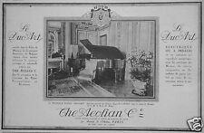 PUBLICITÉ 1924 THE AEOLIAN LE DUO ART ELECTRIQUE OU A PÉDALES - ADVERTISING