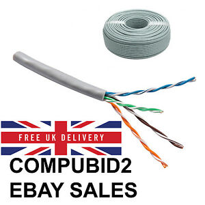 Brilliant 100M Cat5E Grey Cca Indoor Or Outdoor Ethernet Network Cable Reel Wiring Digital Resources Sulfshebarightsorg