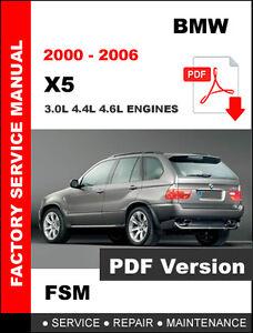 2000 - 2006 BMW X5 3.0L 4.4L 4.6L ENGINE SERVICE REPAIR WORKSHOP MANUAL
