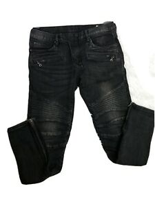 Mens-Mnmi-Jeans-Skinny-Distressed-Punk-Rave-Pants-Sz-34