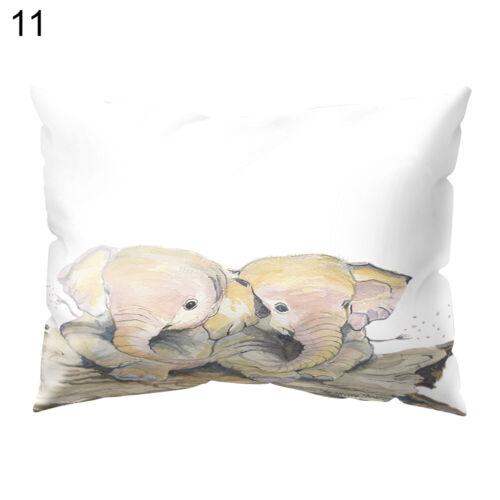 EE/_ THROW WAIST PILLOW CASE ANIMAL ELEPHANT SOFA BED CUSHION COVER HOME DECOR ST