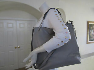 83b8d9ae000e21 Michael Kors Jet Set Chain Item Large Shoulder Tote Pearl Grey ...