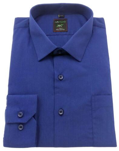 Men/'s Plain Regular fit Shirt Easy Care Classic collar Formal Casual Long sleeve
