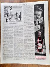 1943 Spur Cola Soda Bottle Ad The Finest Cola I ever Tasted
