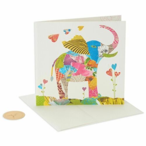 Gorgeous Papyrus Collage Elephant Birthday Card TURNOWSKY/'S
