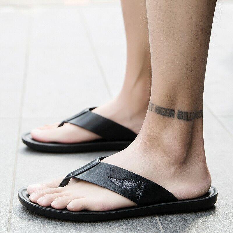 New Summer Clip Toe Flip-flop Men's Casual Beach Sandals Slippers Holiday Beach