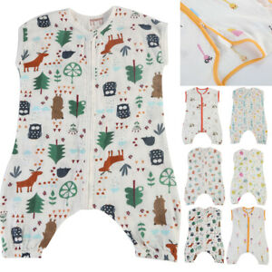 cheap for discount 28695 ed8b4 Details about Baby Kid Douable-layered Cotton Printing Sleep Sack Kids  Sleeveless Sleeping Bag