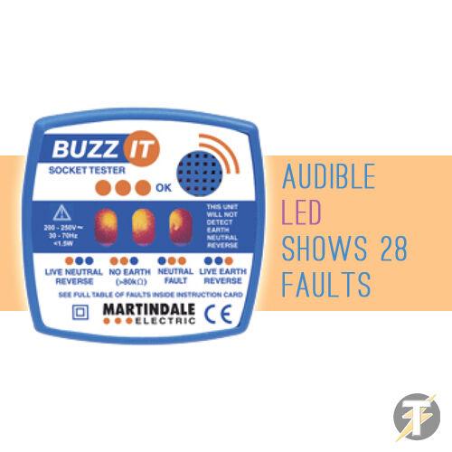Martindale BZ101 Buzz-it Check Plug 13A Audible Socket Tester