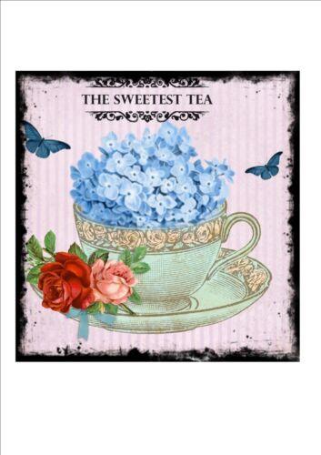 Style Rétro Tea Shop Publicité signe porte signe salons de thé SIGNE Afternoon Tea