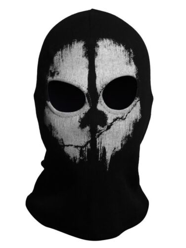 Cagoule Tête de Fantôme Ghost Mask Call of Duty COD Cosplay Tour de Cou Masque