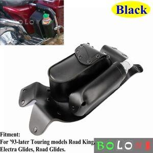 Motorcycle-Right-Saddle-Bag-Guard-Crash-Bar-Water-Bottle-Holder-Bag-For-Harley