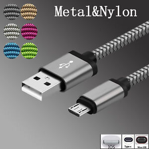 3-10ft-Aluminum-Metal-Nylon-Braided-Type-C-IOS-Micro-USB-Data-Snyc-Charger-Cable