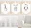Safari-jungle-animaux-Nursery-Imprime-Set-de-3-Baby-Girl-Room-photos-Wall-Art miniature 4