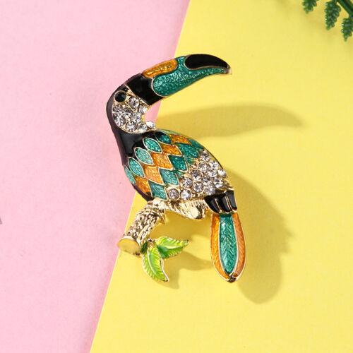 Women Flamingo Crystal Bird Phoenix Animal Owl Breastpin Brooch Pin Jewelry  GS