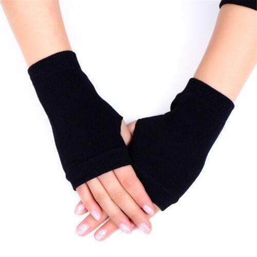 2x Women Carding Cotton Fingerless Warm Winter Gloves Ladies Hand Wrist Warmer