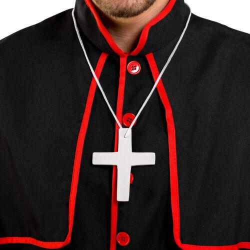 Déguisement de cardinal homme evêque prêtre pape costume carnaval fête robe
