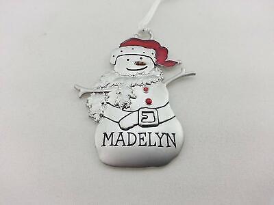 Hallmark Personalized Metal Snowman Christmas Ornament ...