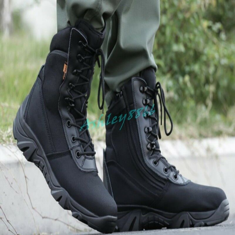 Uomini militare tattica di combattimento scarponi da deserto parte parte parte zip lavoro degli stivaletti di escursionismo caldo 9e2663