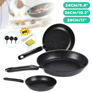 """9/"""" 10/"""" 11/"""" Nonstick Frying Pan Cast Iron Cookware Set BBQ Induction Oven Skillet"""