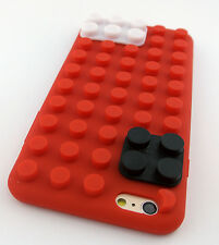 RED LEGO TOY BLOCKS SOFT SILICONE RUBBER SKIN CASE COVER APPLE IPHONE 6S PLUS