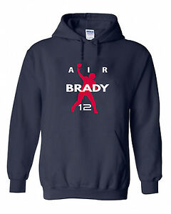 Shedd Shirts Navy New England Brady AIR PIC Hooded Sweatshirt