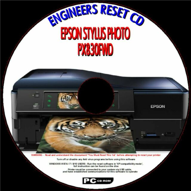 Epson Px830fwd Tx830fwd Printer Waste Ink Pad Full Error Fix Engineers  Reset CD