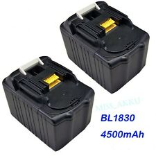 2pack For Makita BL1830 BL1845 LXT Lithium-Ion Replace Battery 4.5Ah 18Volt 18V