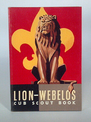 Vintage Boy Scout Handbook Lion-Webelos Cub Scout Book