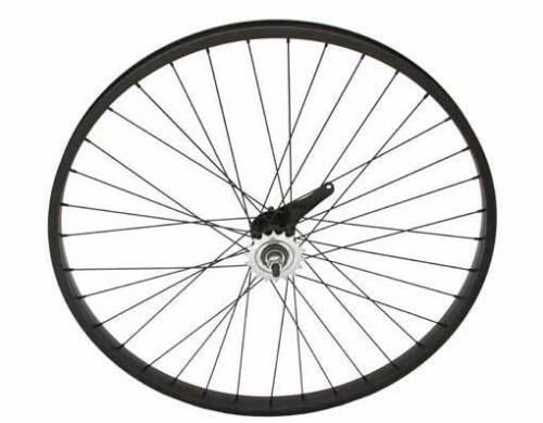 """26/""""  x 1.75 Bicycle Alloy WheelSet Black With 14G Black Spokes Bikes"""