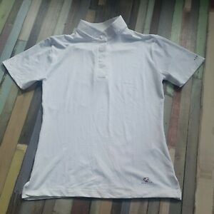 Aubrion short Sleeve stock Show Shirt UK 10 12 small S white
