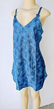 Lyn Anne Women/'s CHEMISE  NEW Size SMALL MEDIUM LARGE BLUE LEOPARD