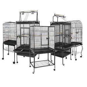 """53"""" 59"""" 61"""" 68"""" 63"""" Large Bird Iron Parrot Pet Cage Play Top Supplies W/ Door"""