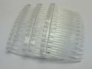 20-Clear-Plastic-Hair-Clips-Side-Combs-Pin-Barrettes-70X40mm-for-Ladies-Craft