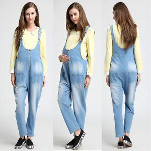 Denim-Jeans-Trousers-Jumpsuits-Dungarees-Pregnancy-Maternity-Cute-8-10-12-14