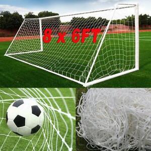 Full-Size-Football-Net-8-x-6FT-PE-Polyethylene-Soccer-Goal-Post-Training-Match
