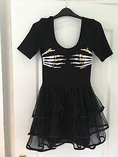 Iron Fist Womens Dress Skater death grope mesh dress size 8 (xs)