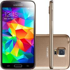 """5.1"""" Samsung Galaxy S5 G900T 4G LTE 16GB 16MP Libre Telefono Movil Phone Oro"""