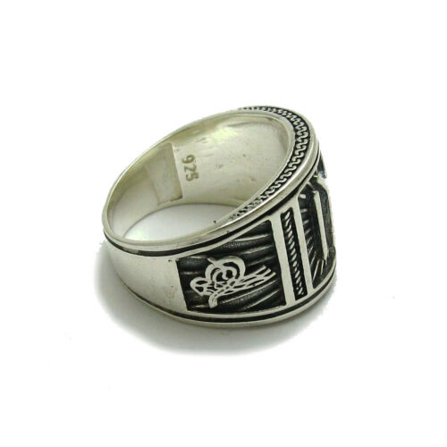 White Mother Of Pearl Shell Citrine Inset 925 Sterling Silver Ring
