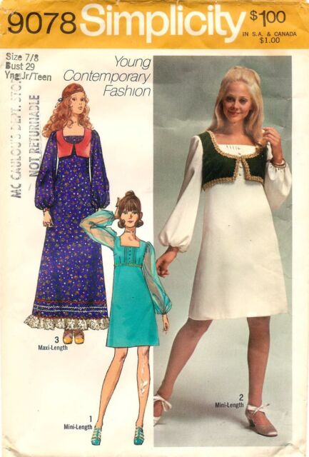 Simplicity Pattern 9078 OOP Girls Renaissance Dress & Vest Costumes ...
