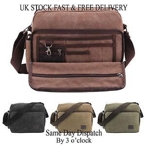 Vincenza-Men-039-s-Retro-Canvas-Bag-Travel-Crossbody-Satchel-Outdoor-Over-Shoulder
