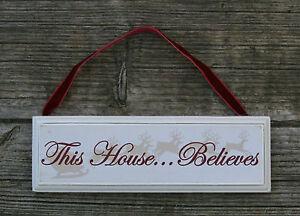 Cette Assemblée estime vintage chic signe de Noël décoration traditionnelle shabby