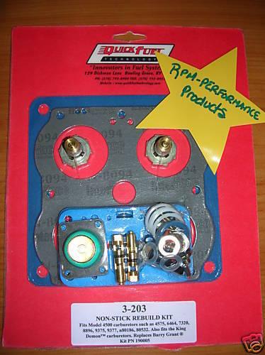 HOLLEY 4500 SERIES DOMINATOR 1050 1150 1250 CARBURETOR REBUILD KIT NO STICK GSKT