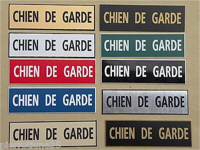 plaque gravée ATTENTION AUX CHIENS Format 70x200 mm