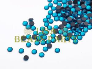 Hot-500pcs-SS16-4mm-12-Facets-DMC-Hotfix-Iron-On-Rhinestones-Crystal-Blue