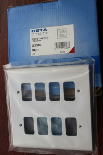 DETA G3308 gridswitch Compact Blanc 3x2G 12 Module Grille Face Plaque