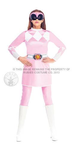 Pink Power Ranger Fancy Dress Ladies Superhero Rangers Adult Womens Costume New