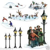 Christmas Winter Party Decoration Lampposts Carolers Winter Fun Add On Props