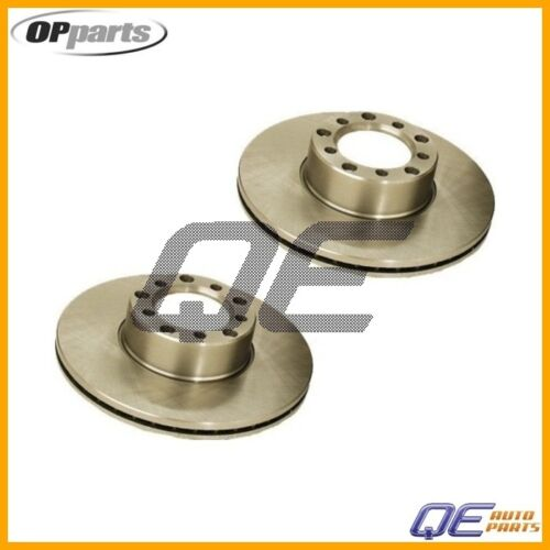 Mercedes R107 W116 W126 280SE 300SD Set of 2 OPparts Front Disc Brake Rotors